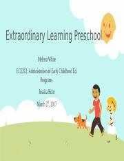 Extraordinary Learning Preschool MW.pptx