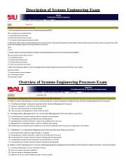 Module 1 - Introduction to Systems Engineering Exams.docx