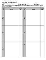 5 Day Study Plan.Word.Template