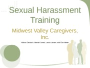 Sexual Harassment Training final draft