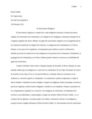 Spanish Essay 2 Draft
