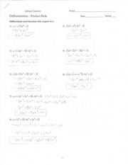 Product Rule Practice