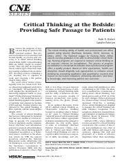 kurfiss 1988 critical thinking