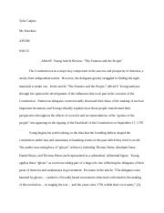 Article Review The Framers and The People Final Draft.docx