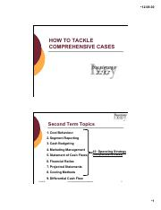 How to Tackle Comprehensive Cases Topic Slides