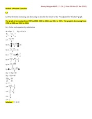 MATH 121 - WRITTEN EXERCISES-MODULE 6