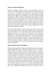 Personnel management concerned with the human relationships within the organizatio1.doc