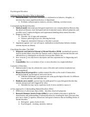 Chapter 15 - Psychological Disorders.docx