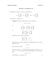 MATH 60 Fall 2014 Assignment 2 Solutions