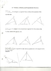 Geometry- Medians Angles and bisectors