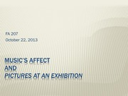Music's affect and pictures at an exhibition