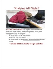 Lab 1-1 Study Habits Flyer