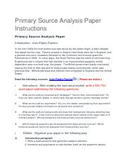 Primary Source Analysis Paper Instruction.docx