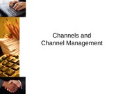 Channels and Channel Management