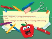 Universal Design for Learning and Differentiation Week 4 Discussion EDU 673