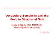 Vocabulary and standards - lecture - BIO337