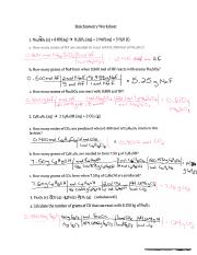 NSC-130 stoichiometry worksheet answers - Stoichiometry Worksheet 1 ...