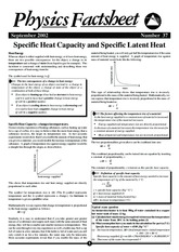 Specific Heat Capacity and Specific Latent Heat