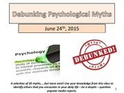 Psychological Myths