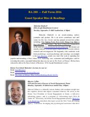 Guest Speaker Bios with Readings FINAL