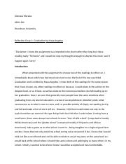 Xiomara Morales Wk 1 Reflection Essay