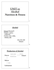 Unit 10 - Alcohol, Nutrition & Fitness