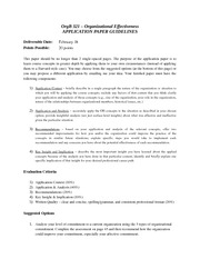 Application Paper Guidelines