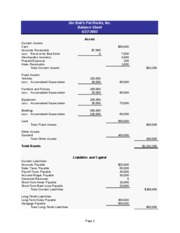 SBA Financial Templates