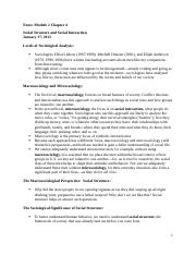 Notes Module 2 Essentials of Sociology Chapter 4.docx