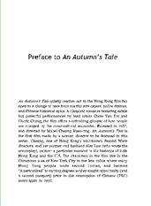 Week 4 Preface to An Autumn's Tale