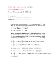 Test 1 10-7-2014 Answer