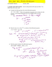 Differential Midterm_2008_solution