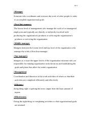 Chapter 1 terms in prinicipels of managment