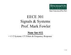 EECE 301 NS_15 CT Filters & Freq Resp