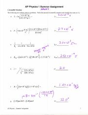 AP_1 Summer Assignment 2015 w answers