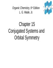CH. 15 Conjugated Systems