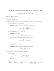 HW10 Solutions