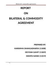 BILATERAL & COMMODITY AGREEMENTS.doc