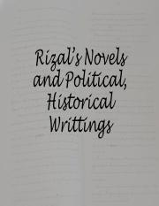 RC-Novels and Political Writings