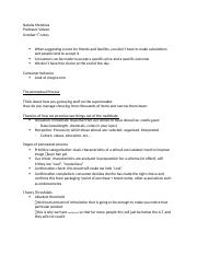 Consumer behavior week 8 notes