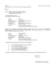 Surat 1 Docx Kepada Yth Kepala Kantor Kementerian Agama Kabupaten Bireuen Di Bireuen Bireuen 21 Januari 2019 Perihal Mohon Percepatan Pemberangkatan Course Hero