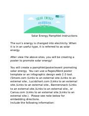 3.5 Promoting Solar Energy Pampelet .docx