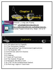 Interactive Computer Graphics 02 summary