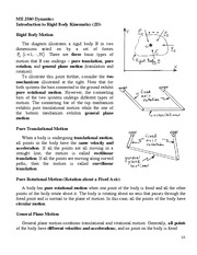 ME258 Intro to Rigid Body Kinematics Review