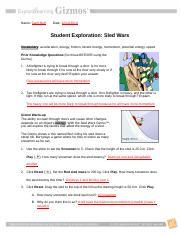 SledWarsSE.doc.docx - Name Date Student Exploration Sled ...