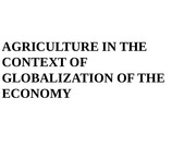 Agriculture  Globalisation_2014-15