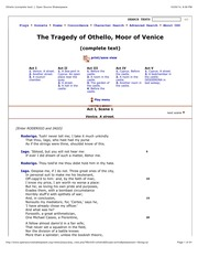 Othello (complete text) :|: Open Source Shakespeare                 (dragged)