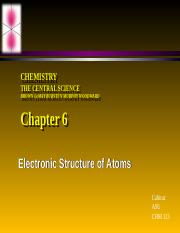 Chapter 6 Electronic Structure of Atoms BbVF F15.ppt