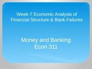 Econ 311 Week 7 Money and Banking PPT