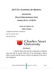 Eco 511 Assingment 2